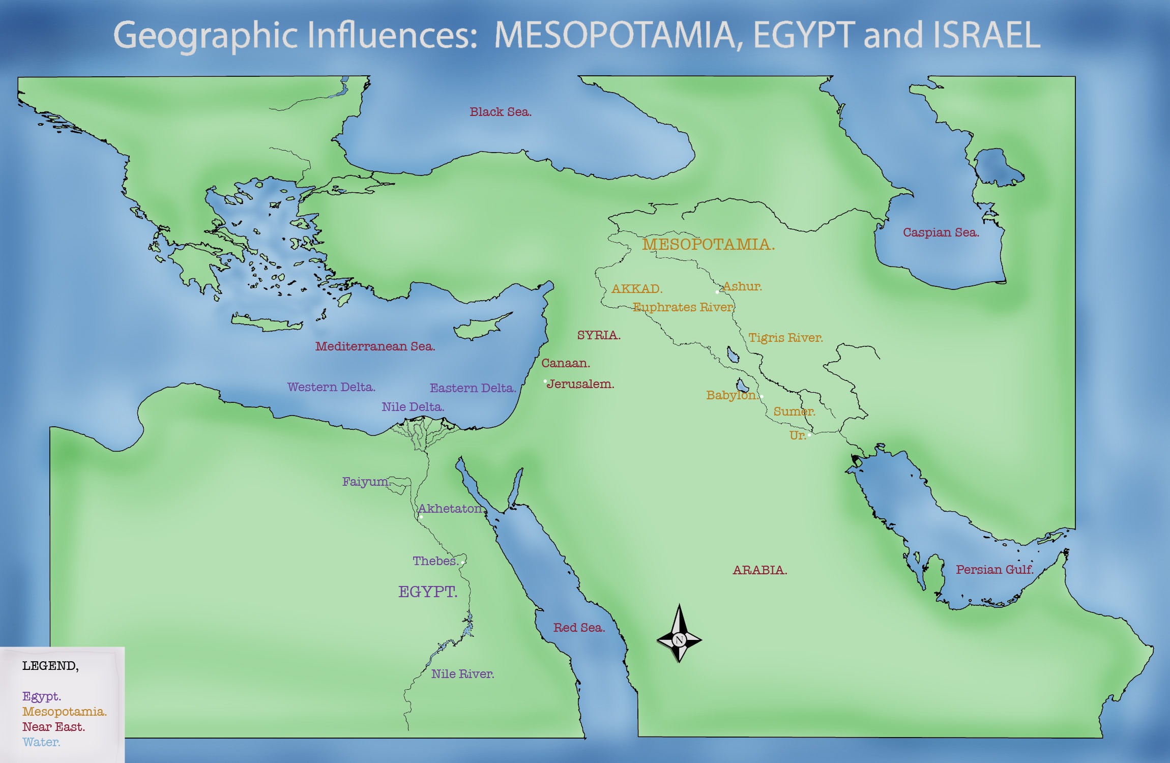 Blank Map Of Mesopotamia Fertile Crescent | Free Printable World Map