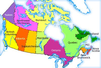 Country Of Canada Map.Country