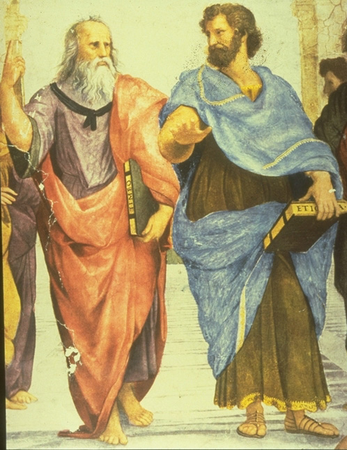 plato aristotle dialogue Plato and aristotle dialogue as i was at plato's academy, i overhear an argument between plato and aristotle the two were in an intensive argument over the theory of forms and the theory of knowledge.