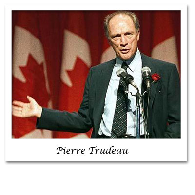 pierre trudeau greatest canadian essay Trudeau, brezhnev used hockey for political gains pierre elliot trudeau and leonid brezhnev might not have had a lot in common, but a love of sports and a belief that sports, and in greater context culture, can play a vital role in the development of the nation.